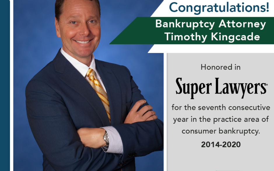 Miami Bankruptcy Attorney Timothy S. Kingcade Named a  Florida Super Lawyer 7 Consecutive Years