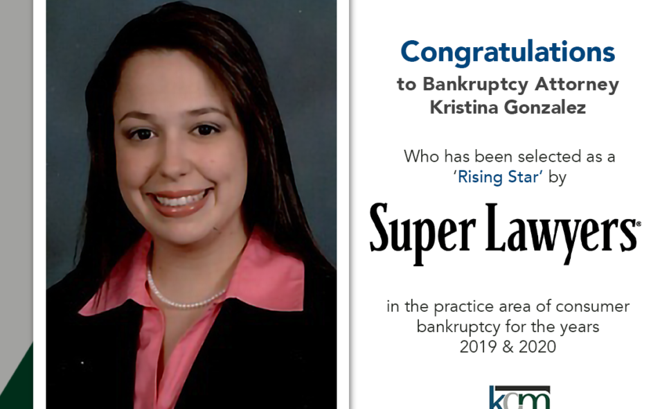 "Attorney Kristina Gonzalez of Kingcade Garcia McMaken Selected as a 2020 ""Rising Star"" by Florida Super Lawyers"