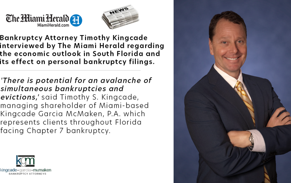 Bankruptcy Attorney Timothy S. Kingcade Interviewed by The Miami Herald